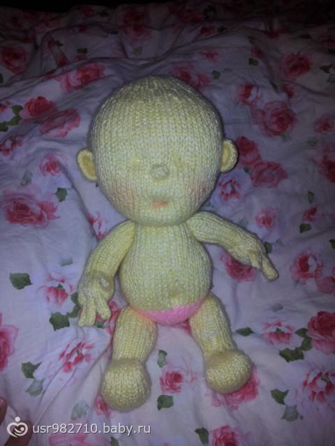 кукла-пупс вязаная для дочек))