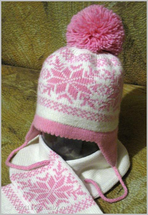 Вязание на машине детских шапок