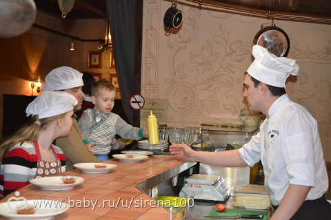Детский кулинарный мастер класс в ресторане (фото)