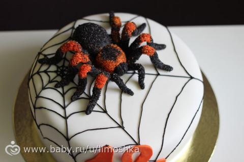 торт с пауком фото