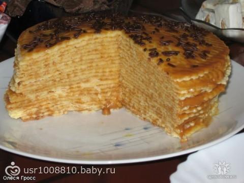 вафельный торт с фото