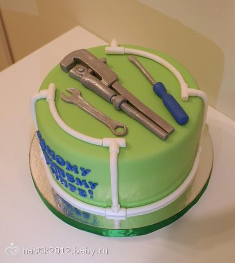 Торт для сантехника фото