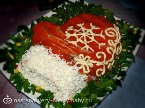 Рецепты новогодних салатов фотографии
