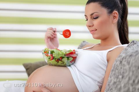 Питание беременной - запасы для малыша.