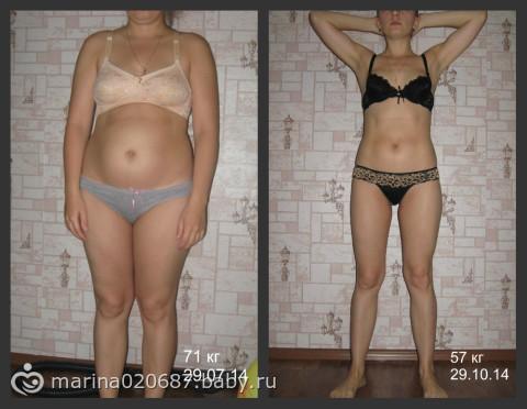 похудение на 10 кг за 4 месяца