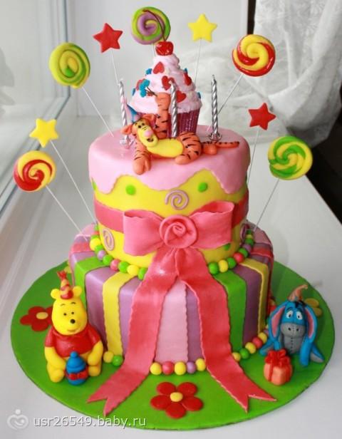 тортик девочке на 2 годика фото