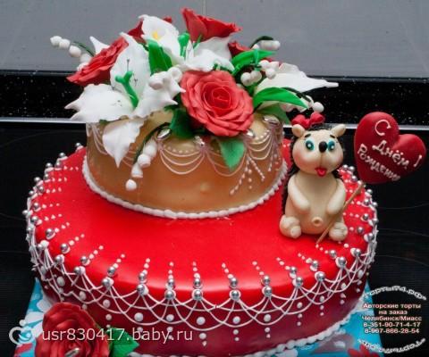 Картинки праздничного торта на день рождение
