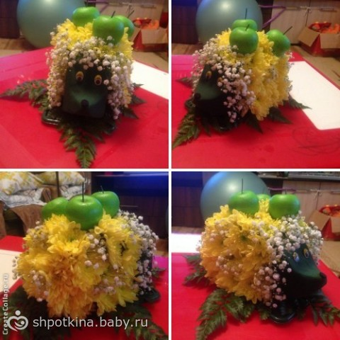 ёжик из цветов фото