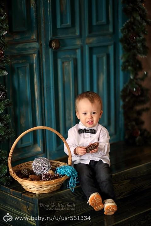 Новогодняя фотосессия младенцев фото