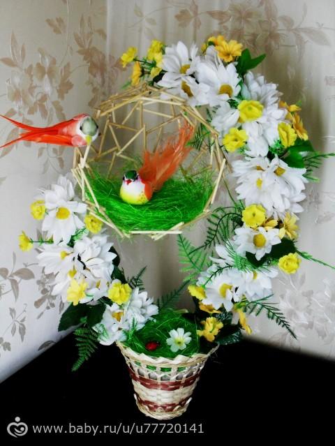 Топиарии с птичьим гнездом