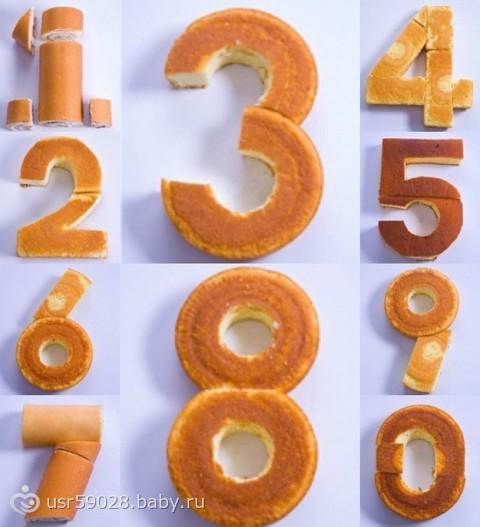 Как можно сделать цифры на торт 695