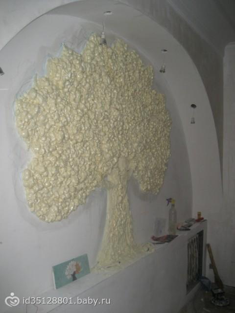 Как сделать дерево из пены