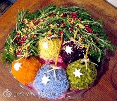 Рецепт с фото новогодних салатов