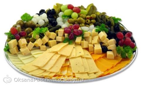 Красивое оформление мясных, овощных и сырных нарезок