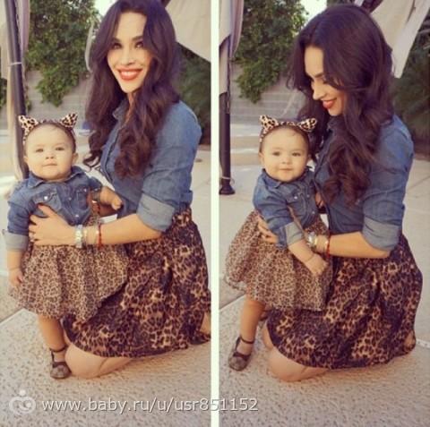 Платья для мам и дочек 2015