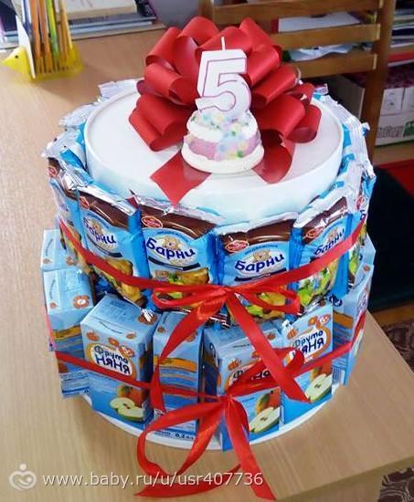 Торт из барни в детский сад