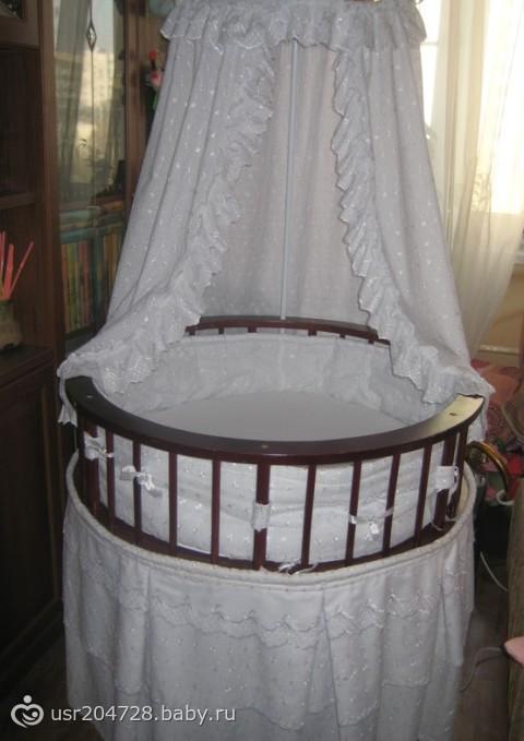 кроватка круглая детская фото