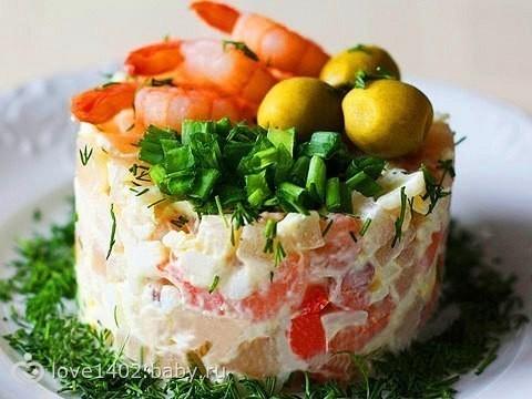 Порционные салаты с фото