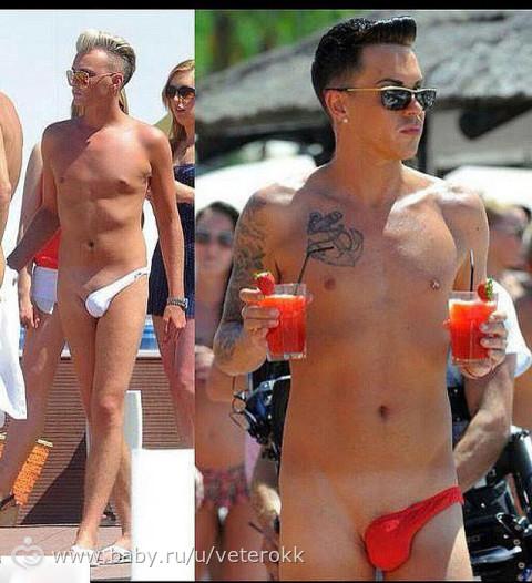 парни в прозрачных трусах стрингах на общественном пляже фото