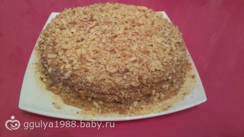 Торт рубленный со сгущенкой