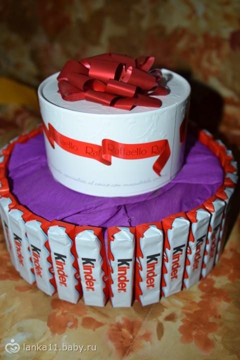 Торт Подарок. Торт в виде Подарка своими руками